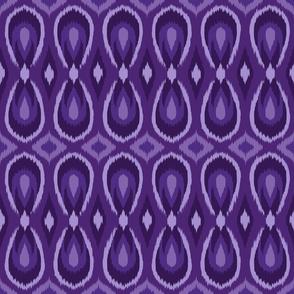 teardrop ikat purple