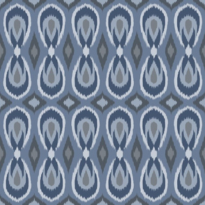 teardrop ikat slate blue and gray
