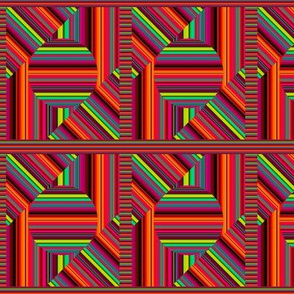 """4"""" stripes coordinate to cheater quilt bright fruity abstract PSMGE"""
