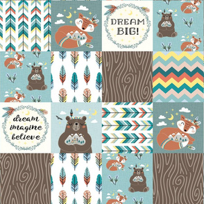 little wildlife wood tribe ↠ cheater quilt