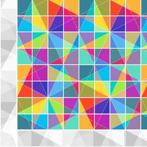 Crystal Rainbow Cheater Quilt