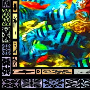 Fish cheater quilt Sept 2019 vertical