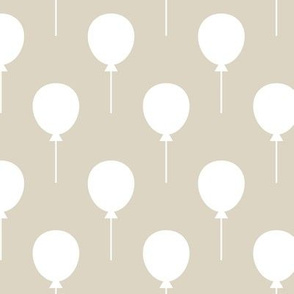 Balloons Ecru / White