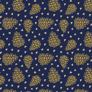 pine cones - with triangles