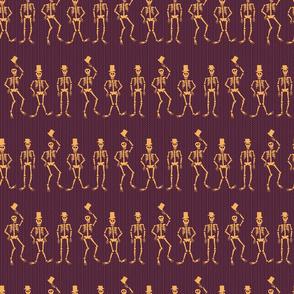 Dancing Skeletons - purple