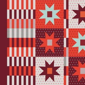 Stars Cheater Quilt 56x36