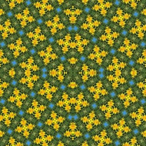 Gold & Green Kaleidoscope