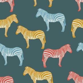 Zebra (dusty blue)