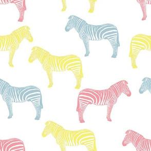 Zebra (pastel colours)
