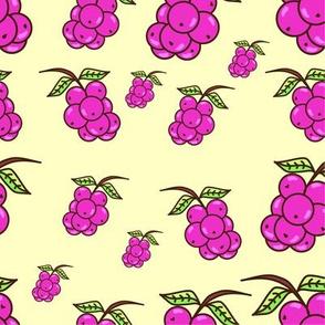 Handdrawn Purple Wild Grape Seamless Pattern