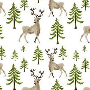 """4"""" Hello Winter Deer"""