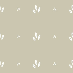 MINI Print White on Neutral Greyed Taupe