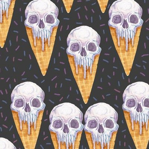 Skull Ice Cream Cones