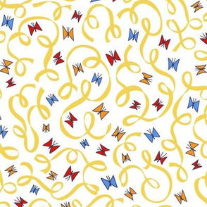 Gold Ribbon and Butterfly Confetti