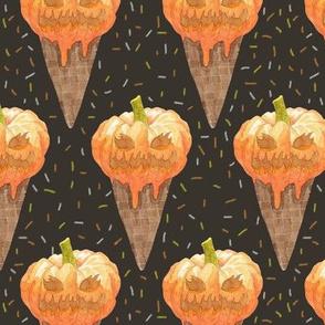Jack-O-Lantern Ice Cream Cones