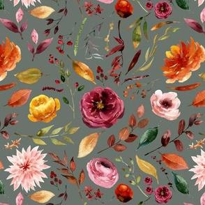 Apple Cider Florals // Corduroy