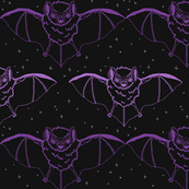 Purple Ink Bats at Night