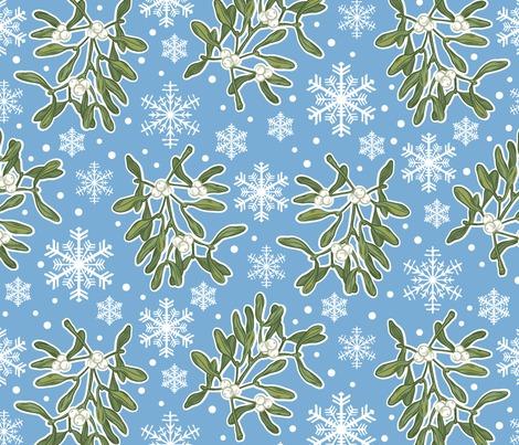 Rmistletoe_snowflakes_winterflora-blue-01_contest281943preview