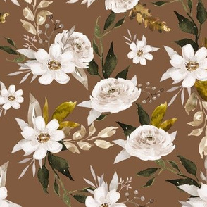 Caramel and Olive Muted Florals // Coffee