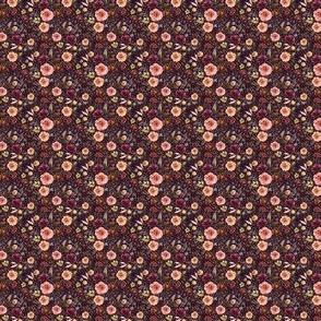 "1"" Boone Fall Florals - Deep Purple"