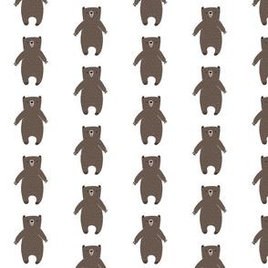 Brown Bear Cartoon with White Flecked Fur