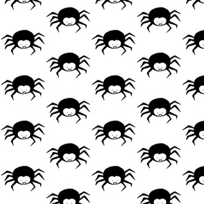 Black and White Spider Cartoon