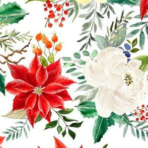 """18"""" Christmas Poinsettia // White"""