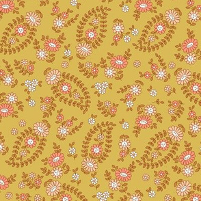Sweet & Calm Paisley  Gold