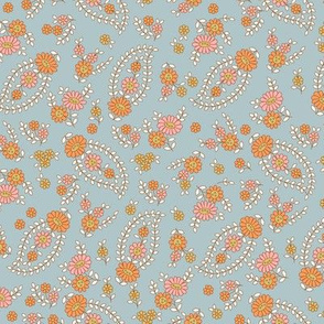 Sweet & Calm Paisley - Powder Blue