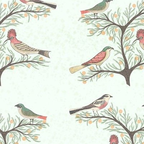 Birds-on-tree-pattern