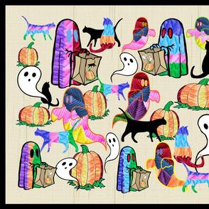 Halloween Otomi Quilt Black 1