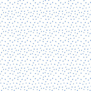 small blue triangles