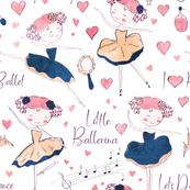 Little Ballerina on White