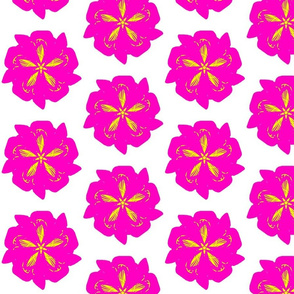Pink Lady Funky Flower - Hot Pink