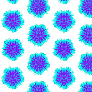 Ice Queen Funky Flower Snowflake
