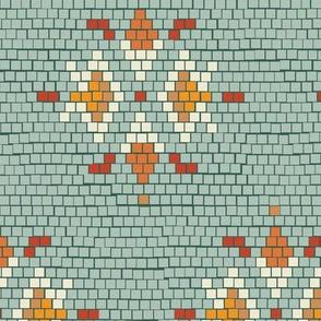 Vintage Tile Pale Teal