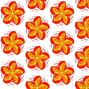 Orange Rough Funky Flower