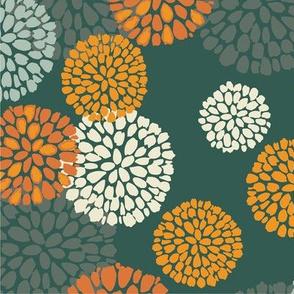 Floral Pompom Green