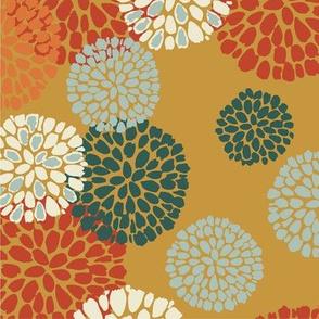 Floral Pompom Gold