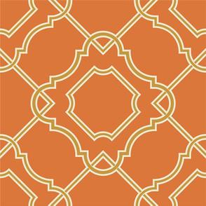 Large Scale Art Nouveau Orange