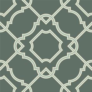 Large Scale Art Nouveau Green