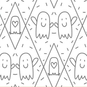 """Ghosts """"Soul Mates"""" fat quarter or smaller only"""