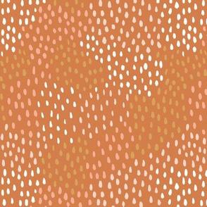 Abstract Terracotta Raindrops