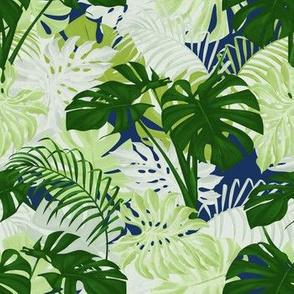 Modern Tropical - Lime/Ultramarine