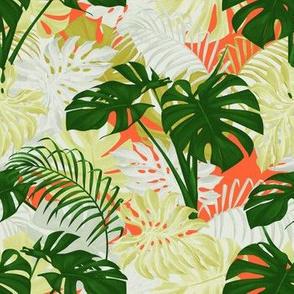 Modern Tropical - Orange/Green