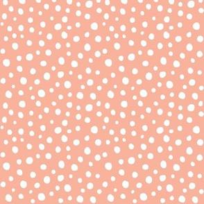 dots - peach