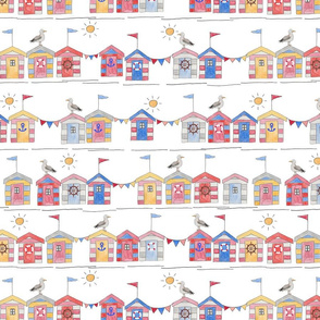 Beach Huts Summer Time (Medium Scale)