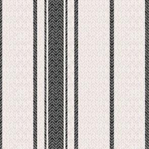 Grain Sack Stripe 2 in Ebony