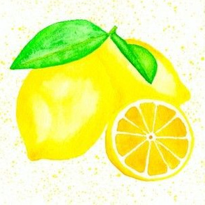 Juicy Watercolor Lemons