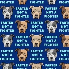 """(1.5"""" scale) farter not a fighter - pit bulls - pitties - blue - LAD19BS"""